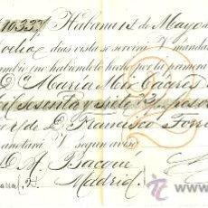 Documentos bancarios: LETRA DE CAMBIO - SEGUNDA DE CAMBIO - HABANA - CUBA - 1888. Lote 29579547