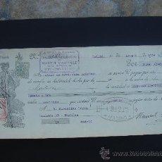 Documentos bancarios: LETRA DE CAMBIO EXPEDIDA EN MADRID EL 11-VIII-1934. DIM.- 29X11,5 CMS.. Lote 29592482