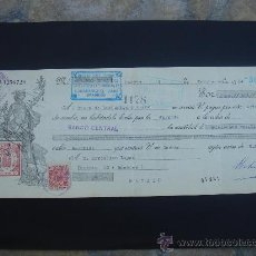 Documentos bancarios: LETRA DE CAMBIO EXPEDIDA EN MADRID EL 5-IX-1934. DIM.- 29X11,750 CMS. . Lote 29592601