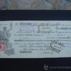 Documentos bancarios: LETRA DE CAMBIO EXPEDIDA EN MADRID EL 7-IX-1934. DIM.- 29X11,750 CMS. . Lote 29605607