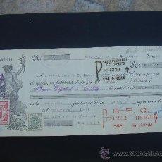 Documentos bancarios: LETRA DE CAMBIO EXPEDIDA EN VALENCIA EL 23-X-1934. DIM.- 29X11,750 CMS. EN .. Lote 29615985