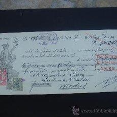 Documentos bancarios: LETRA DE CAMBIO EXPEDIDA EN MADRID EL 7-V-1934. DIM.- 29X11,750 CMS. EN .. Lote 29616172