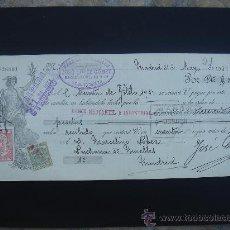 Documentos bancarios: LETRA DE CAMBIO EXPEDIDA EN MADRID EL 31-V-1934. DIM.- 29X11,750 CMS. EN .. Lote 29616314