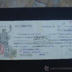 Documentos bancarios: LETRA DE CAMBIO EXPEDIDA EN MADRID EL 31-V-1934. DIM.- 29X11,750 CMS. EN . . Lote 29616531