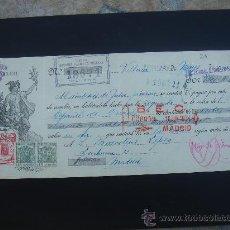 Documentos bancarios: LETRA DE CAMBIO EXPEDIDA EN VILLENA EL 22-V-1934. DIM.- 29X11,750 CMS. EN . . Lote 29618183