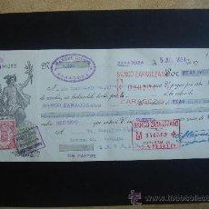 Documentos bancarios: LETRA DE CAMBIO EXPEDIDA EN ZARAGOZA EL 5-VII-1934. DIM.- 29X11,750 CMS. EN .. Lote 29630087
