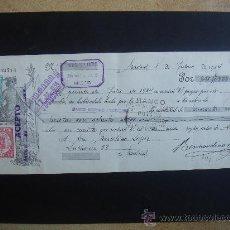 Documentos bancarios: LETRA DE CAMBIO EXPEDIDA EN MADRID EL 1-VI-1934. DIM.- 29X11,750 CMS. . Lote 29639199