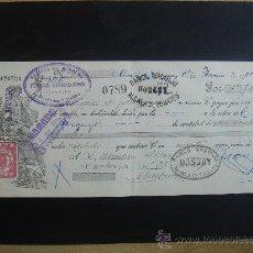 Documentos bancarios: LETRA DE CAMBIO EXPEDIDA EN ALCALÁ DE HENARES EL 14-VI-1934. DIM.- 29X11,750 CMS.. Lote 29639272