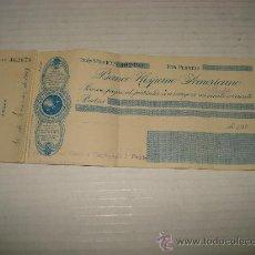 Documentos bancarios: ANTIGUO TALONARIO DE CHEQUES DEL BANCO HISPANO AMERICANO DEL AÑO 1923 .. Lote 29856237