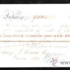 Documentos bancarios: LETRA DE CAMBIO. CADIZ. BENSUSAN. 1868. BOSTON. Lote 30388350