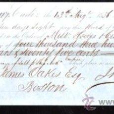 Documentos bancarios: LETRA DE CAMBIO. CADIZ. BENSUSAN. 1856. BOSTON. Lote 30388362