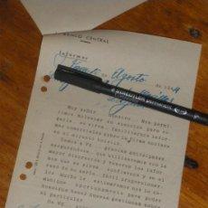 Documentos bancarios: BANCO CENTRAL, JAEN 1944. SOLICITUD DE INFORMACION SOBRE CLIENTE.. Lote 30856739