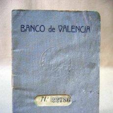 Documentos bancarios: LIBRETA, CAJA DE AHORROS, BANCO DE VALENCIA, 1939. Lote 31410139