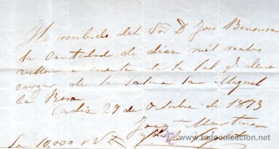 Documentos bancarios: SEIS RECIBÍ, ASOCIACIÓN SALINERA CÁDIZ, 1850. VER FOTOS ADICIONALES.SAL. - Foto 4 - 31537401