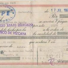 Documentos bancarios: LETRA DE CAMBIO MANUFACTURAS ALPE - MARTORELL - BARCELONA - AÑO 1964. Lote 31716687