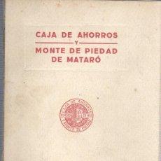 Documentos bancarios: REGLAMENTO DE CAJA DE AHORROS Y MONTE DE PIEDAD MUNICIPAL DE MATARO 1920. Lote 31822279