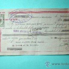 Documentos bancarios: DOCUMENTO BANCARIO DEL BANCO MERCANTIL E INDUSTRIAL DE RAFAEL CASTELLÓ FÁBRICA DE JUGUETES. 1958.. Lote 32018918