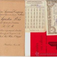 Documentos bancarios: CONJUNTO DE 9 DOCUMENTOS BANCARIOS DISTINTOS 1931 A 1960.. Lote 32710118