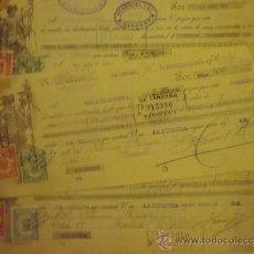 Documentos bancarios: LOTE LETRAS DE CAMBIO AÑOS 30 SELLOS FISCALES EN TOAL 31 LETRAS DE CAMBIO. Lote 32833278