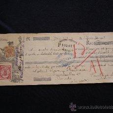 Documentos bancarios: PRIMERA DE CAMBIO CREDIT LYONNAIS. MADRID. 1908. MANUEL CAICOYA.OVIEDO.. Lote 32983522