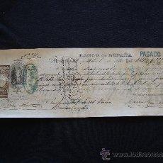 Documentos bancarios: PRIMERA DE CAMBIO BANCO DE ESPAÑA. MADRID. 1886. PABLO SANSALVADOR. BARCELONA.. Lote 32984144