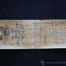 Documentos bancarios: PRIMERA DE CAMBIO BANCO DE ESPAÑA. MADRID. 1886. URQUIJO Y COMPAÑIA. MADRID.. Lote 32984166