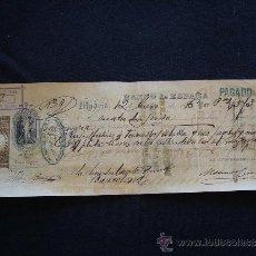 Documentos bancarios: PRIMERA DE CAMBIO BANCO DE ESPAÑA. MADRID. 1886. RUFO MARTÍNEZ. MADRID.. Lote 32984198