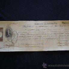 Documentos bancarios: PRIMERA DE CAMBIO BANCO DE ESPAÑA. MADRID. 1885. JUAN RAMÓN XIMENEZ DE SANDOVAL.. Lote 32984354