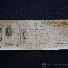 Documentos bancarios: PRIMERA DE CAMBIO BANCO DE ESPAÑA. MADRID. 1885. GARRIGA NOGUÉS HERMANOS. BARCELONA.. Lote 32984451