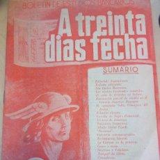 Documentos bancarios: NUMERO 5 REVISTA FINANCIERA A TREINTA DIAS FECHA. ENERO 1953. Lote 33117430