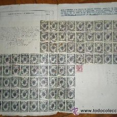 Documentos bancarios: PÓLIZA DE CRÉDITO 1958 DE 5 MILLONES DE PESETAS. ESPECTACULAR HOJA 76 SELLOS CLASE 1ª DE 120 PTAS . Lote 33395680