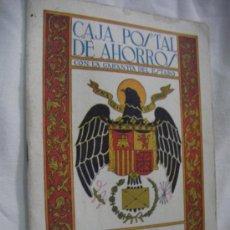 Documentos bancarios: ANTIGUA LIBRETA CORRIENTE DE LA CAJA POSTAL DE AHORROS (CE12). Lote 33767573
