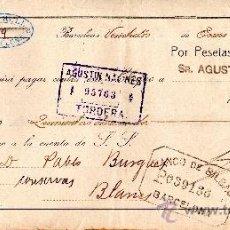 Documentos bancarios: PAGARE LUIS RULL BARCELONA . Lote 33814504