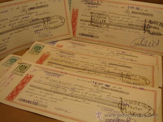 lote 6 x letra de cambio - banco coca valencia - Comprar Documentos  bancarios antiguos en todocoleccion - 34084812