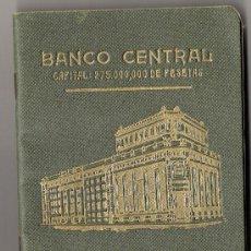 Documentos bancarios: LIBRETA BANCO CENTRAL-CAJA DE AHORROS AÑO 1955 **SAN GINES DE VILASAR**. Lote 34173317