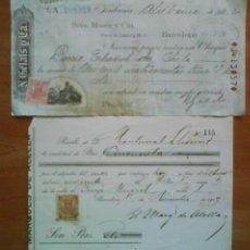 Documentos bancarios: 1917 - 1922 UN TALÓN BANCARIO Y UN RECIBI. Lote 34188190
