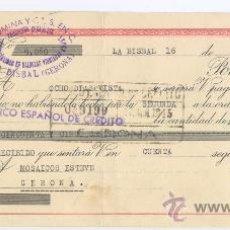 Documentos bancarios: LETRA DE CAMBIO - AÑO 1945 - BANCO ESPAÑOL DE CREDITO (LA BISBAL). Lote 34465416