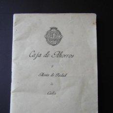 Documentos bancarios: LIBRETA. CAJA DE AHORROS Y MONTE DE PIEDAD DE CADIZ 1957. Lote 34470486