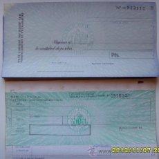Documentos bancarios: 2 CHEQUES BANCO CENTRAL. Lote 34663559
