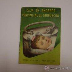 Documentos bancarios: CAJA DE AHORROS PROVINCIAL DE GUIPUZCOA. Lote 34707377