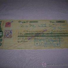 Documentos bancarios: CHEQUE,FÁBRICA DE CHOCOLATES KIKE AÑO 1936. Lote 35561326