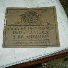 Documentos bancarios: LIBRETA DE AHORRO CAJA DE PENSIONES PARA LA VEJEZ Y DE AHORRO. Lote 36011166