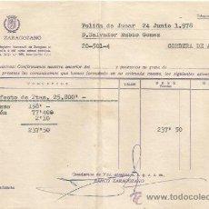 Documentos bancarios: ** PA137 - DOCUMENTO DEL BANCO ZARAGOZANO - POLIÑA DE JUCAR - 1978. Lote 36064113