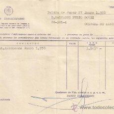 Documentos bancarios: ** PA138 - DOCUMENTO DEL BANCO ZARAGOZANO - POLIÑA DE JUCAR - 1978. Lote 36064149