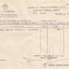 Documentos bancarios: ** PA136 - DOCUMENTO DEL BANCO ZARAGOZANO - POLIÑA DE JUCAR - 1977. Lote 36064344
