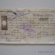 Documentos bancarios: PRIMERA DE CAMBIO BANCO DE ESPAÑA. VIGO. 1887. DON JUAN BOBILLO Y HERMANOS. BARCELONA.. Lote 36948528