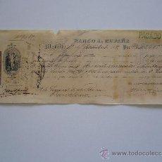 Documentos bancarios: PRIMERA DE CAMBIO BANCO DE ESPAÑA. MADRID. 1888. DAVID ROUVIER. V. MARITIME. BARCELONA.. Lote 36948579