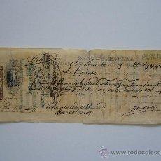 Documentos bancarios: PRIMERA DE CAMBIO BANCO DE ESPAÑA. MADRID. 1889. BARCELONA.. Lote 36948660