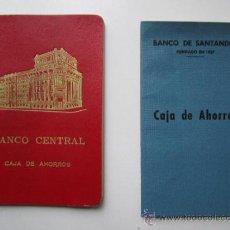Documentos bancarios: CARTILLA AHORROS BANCO CENTRAL. Lote 37018978