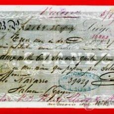 Documentos bancários: LETRA CAMBIO SIGLO XIX, FABRICA DE ARMAS LIEGE, PAGADERA EN VALENCIA 1859 ,ORIGINAL, LC59. Lote 136732569